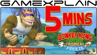 5 Minutes of Funky Kong in DKC: Tropical Freeze DIRECT FEED Gameplay (Nintendo Switch - 1080p60fps)