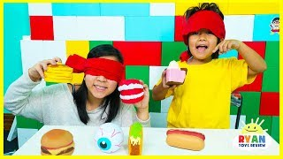 Guess the Squishy Toys challenge with Ryan and Mommy!