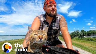 Guy Finds A Stray Kitten, Bikes Around The World With Her For Two Years | The Dodo Soulmates