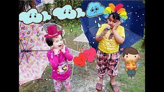 LEARN RHYME RAIN RAIN GO AWAY | KIDS FUN IN RAIN | RAIN RAIN GO AWAY