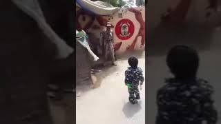 Cute Little Children Respect In Sindh Rangers