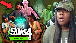 THE SIMS 4 | PARANORMAL STUFF PACK - OFFICIAL REVEAL TRAILER | REACTION 👻🔮