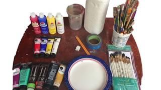 Paint & Sip Instructional Video : Part 1 Supplies