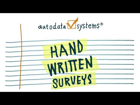 AutoData's Survey and Form Scanning Software