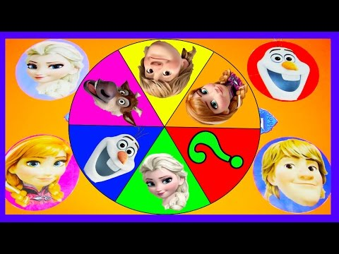 Frozen Movie Game with Paw Patrol Mystery - Find Elsa & Paw Patrol Toys - Spin the Wheel Get Slimed
