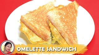 যত সময় কম তত টেস্টি হেলদি নাস্তা তৈরী - Bread Omelette Sandwich Recipe - Bengali Breakfast Recipes