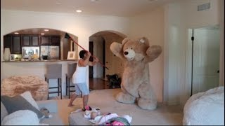 HUGE TEDDY BEAR PRANK ON GRANDMA!!!