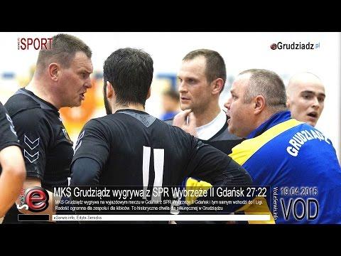 MKS Grudziądz wygrywa z SPR Wybrzeże II Gdańsk 27:22 - fragmenty spotkania