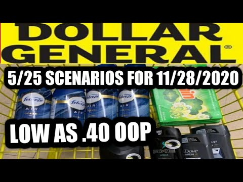 DOLLAR GENERAL | FOR 11/28/2020 | 5 OFF 25 SCENARIOS | LOW AS .40 CENT OOP | IVY'S COUPON CAMP |