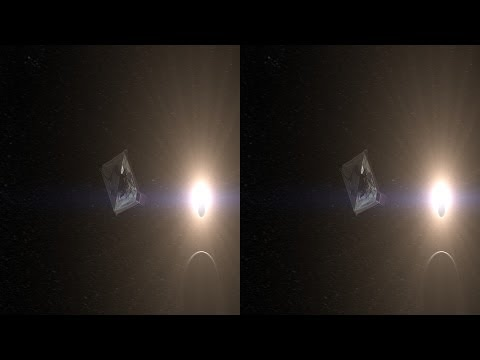Flyby of JWST at L2 Point in 3D - Hubble Site