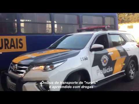 Ônibus de trabalhadores rurais é apreendido com drogas na região