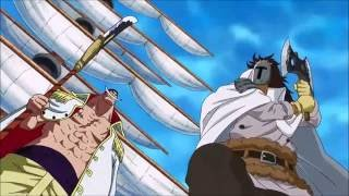 Whitebeard Crushes Vice Admiral Lonz English Dubbed