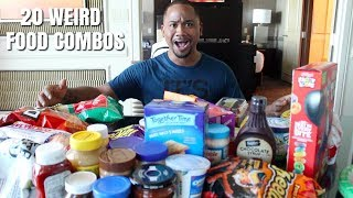 Trying 20 WEIRD Food Combos People Reccomended | Alonzo Lerone