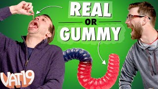 Real Food vs. Gummy Food Challenge!