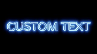 Blender tutorial: Neon glow text stroke