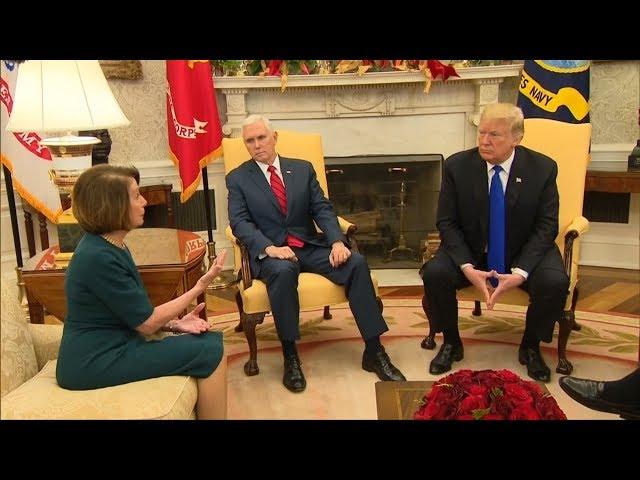 川普邀國會領袖協商美墨圍牆預算 爭吵收場