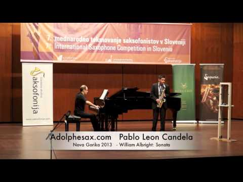 Pablo Leon Candela - Nova Gorika 2013 - William Albright Sonata