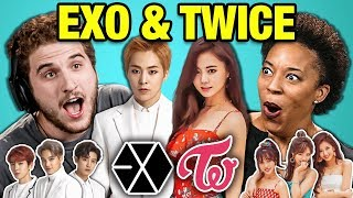 Adults React To K-Pop | EXO - Tempo & TWICE - YES or YES