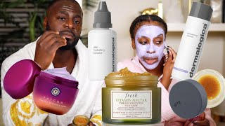 Hot Guy Does My FULL 20 STEP SKINCARE ROUTINE | Jackie Aina