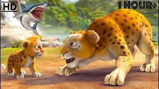Children CARTOONS 2018 HD - Scary Animal Bandits - Snake, Tiger, Shark, Lion, Dinosaur Kids Videos