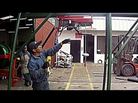 Elevador de Caballete monofásico 500kg