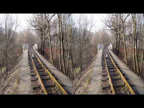 Spring ! Railway 3D ! SUPER 3D ! 3D VIDEO
