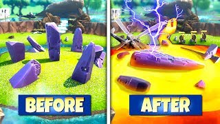 *NEW* LOCATIONS IN FORTNITE THAT *ARE CHANGING* DURING SEASON 8 LOOT LAKE CUBE EVENT!: BR