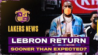LeBron James Returning Sooner Than Expected?