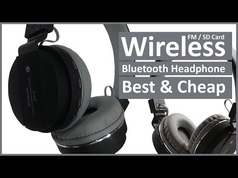 video SH-12 wireless/ Bluetooth Headphone With FM and SD Card Slot with music and calling controls