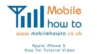 How To Setup Facebook - Apple iPhone 5