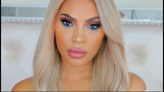 A POP OF BLUE | AFFORDABLE MAKEUP TUTORIAL