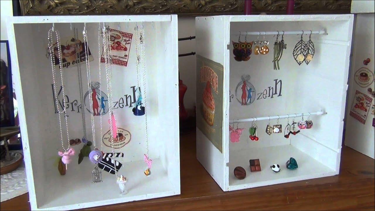 tuto cr er vos pr sentoirs bijoux pas chers avec de la r cup par kerrozenn youtube. Black Bedroom Furniture Sets. Home Design Ideas