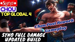 Chou Post Rework Gameplay, Syno Full Damage Updated Build [ Top Global 4 Chou ] ●Sყɳσ● Chou