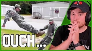 Royal Marine Reacts To Military FAILS & Funny Soldiers | AFV 2019