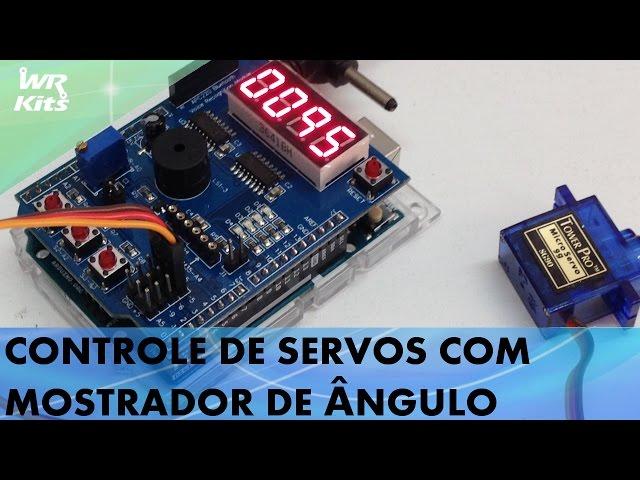 CONTROLE DE SERVOS COM MOSTRADOR DE ÂNGULO