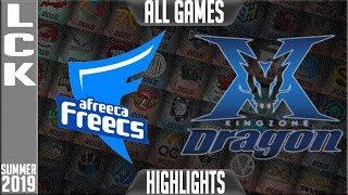 AF vs KZ Highlights ALL GAMES   LCK Summer 2019 Week 2 Day 4   Afreeca Freecs vs King-Zone DragonX