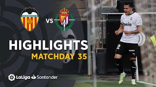 Highlights Valencia CF vs Real Valladolid (3-0)