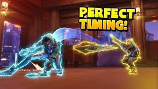 Craziest PERFECT Timing Moments - Overwatch Montage