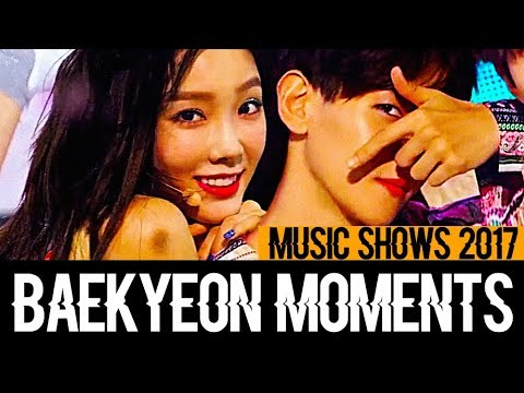 Baekyeon Moments At Music Shows 2017 (Baekhyun And Taeyeon)