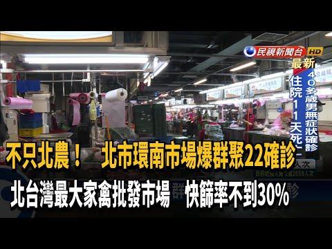 北台最大家禽批發市場 環南市場爆群聚22確診-民視新聞