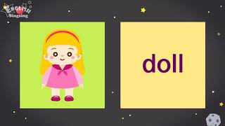 "Kids vocabulary compilation ver.2 - Words Cards starting with D, d - Repeat after ""Ting (sound)"""