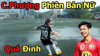 Thử thách bóng đá với Công Phượng phiên bản nữ U23 Việt Nam kỹ thuật đỉnh như Ronaldo