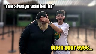 This Homeless Man had ONE WISH.. And I Made it COME TRUE!!