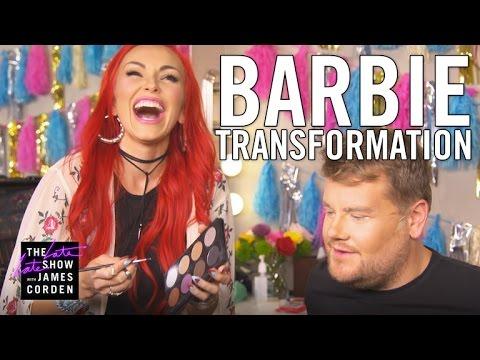 Kandee Johnson Transforms James Corden into Barbie