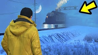 GTA 5 - I Found Santa's Train! (3:00 AM Easter Egg)