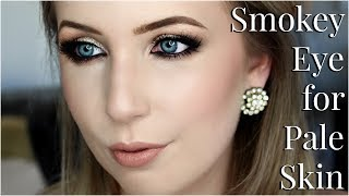 Smokey Eye Makeup for Pale Skin | Tips & Tricks Tutorial
