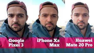 Сравнение КАМЕР: Pixel 3 vs iPhone Xs Max vs Mate 20 Pro