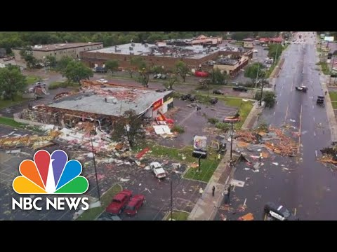 Drone Footage Shows Extent Of Sioux Falls Tornado Damage | NBC News