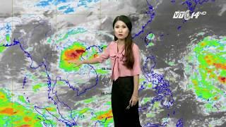VTC14 | Thời tiết cuối ngày 10/10/2017 | Áp thấp nhiệt đới vào đất liền các tỉnh Hà Tĩnh-Quảng Bình