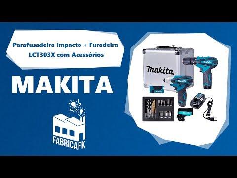 Parafusadeira Impacto Furadeira LCT303X Com Acessórios Makita - Vídeo explicativo